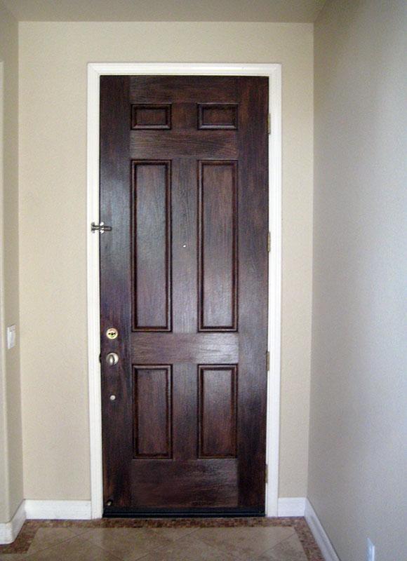 Wood Stained Door